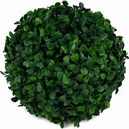 Sunnyglade 2 PCS 15 7 inch 4 layers Artificial Plant Topiary Ball Faux Boxwood Decorative Balls for Backyard  Balcony Garden  Wedding and Home DAccor