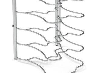 SimpleHouseware Kitchen Cabinet Pantry Pan and Pot lid Organizer Rack Holder  Chrome