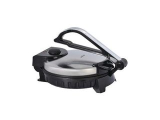 Brentwood Electric Tortilla Maker Non Stick  10 inch  Brushed Stainless Steel Black