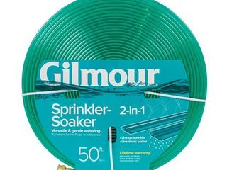 Gilmour 2 in 1 Sprinkler Soaking Hose  Green  50 Feet