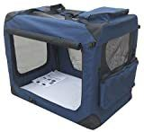 EliteField 3 Door Folding Soft Dog Crate  Indoor   Outdoor Pet Home  Multiple Sizes and Colors Available  20  l x 14  W x 14  H  Navy Blue