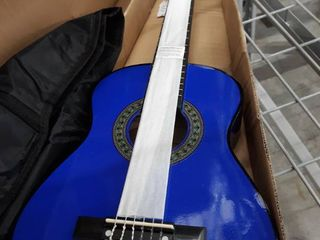 Music Alley 6 String 30 Inch Half Size Junior Guitar For Young Kids  Blue  ma 52