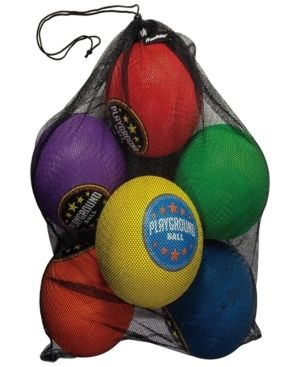 Franklin Sports Playground Balls   Rubber Kickballs and Playground Balls For Kids   Great for Dodgeball  Kickball  and Schoolyard Games a 8 5a Diameter  Multicolor Pack of 6