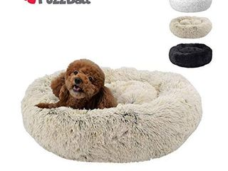 FuzzBall Fluffy luxe Pet Bed  Anti Slip  Waterproof Base  Machine Washable  Durable