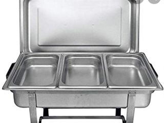 Tiger Chef 8 Quart Full Size Stainless Steel Chafer With Folding Frame And 2 And