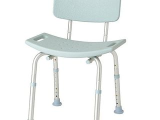 Medline Bath Bench with Back  Microban