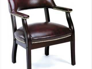 Boss Captainas Chair In Burgundy Vinyl