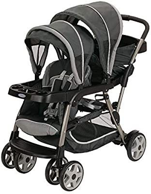 Graco Ready2Grow lX Stroller   12 Riding Options   Accepts 2 Graco SnugRide Infant Car Seats  Glacier