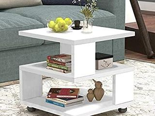 Jerry   Maggie Magic Cube White Nightstand