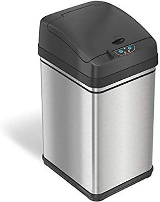Itouchless 8 Gallon Pet proof Sensor Trash Can With Absorbx Odor Control Syst