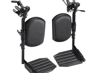 Invacare T94HCP Elevating leg Rest with Composite Footplates and Padded Calf Pads