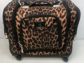 Weekender Travel Bag leopard print with set of 2 toiletry bags