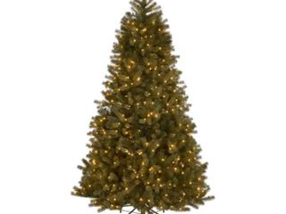 9 foot Mixed Spruce Pre lit Clear String light Hinged Artificial Christmas Tree   tested works