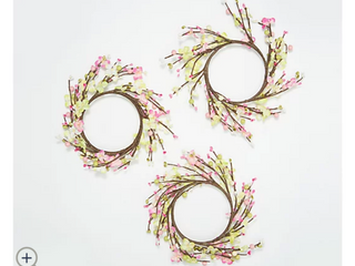 Set of 3 Bloom and Berry Candle Rings by Valerie