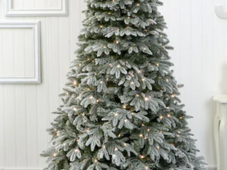 7 foot Noble Fir Hinged Artificial Christmas Tree by Christopher Knight Home