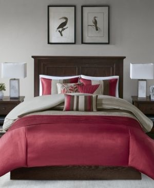 Salem 7 Piece Comforter Set   Red  King