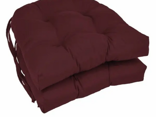 Blazing Needles 16 inch U shaped Dining Chair Cushions  Set of 4    16  x 16    Burgundy