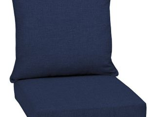 Set of 2   leala Texture Deep Seat Outdoor Cushion Set Sapphire   Arden Selections
