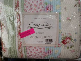 finely Stitch cozy line two piece twin size quilt set