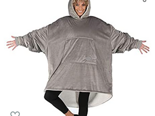 THE COMFY Original   Oversized Microfiber   Sherpa Wearable Blanket  Seen On Shark Tank  One Size Fits All Gray