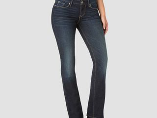 DENIZEN from levi s Women s Mid Rise Bootcut Jeans   Dark Wash 6 Short  Dark Blue