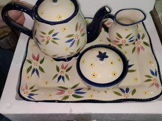 Temp tations Old World 4 Piece Tea Set with Tray