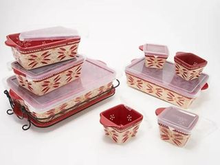 Temp tations Old World 10 pc Basketweave Bakeware Set
