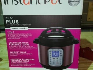 Instant Pot 6 qt Duo Plus 9 in 1 Pressure Cooker With Glass lid Cinnamon   A