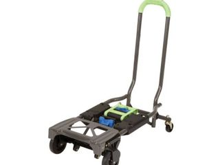 Cosco 12222PBG1E Blue and Green 2 in 1 Multi Position Folding Hand Truck and Cart