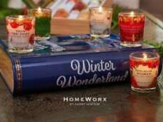 HomeWorx by Harry Slatkin Storybook Tin with 5 Scented Votive Candles