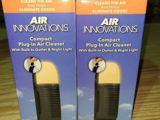 Set of 2  Air Innovations Ultrasonic Travel Humidifier 12 Hours