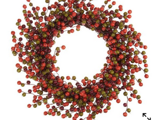 Harvest Berry 22 inch wreath on Grapevine Base by Valerie