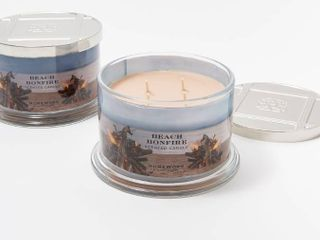 Homeworx Set of 2 Beach Bonfire 4 wick Candles
