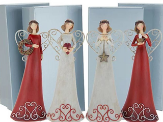 Set of  4  8  Angel Figurines with Gift Boxes by Valerie