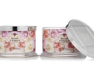 HomeWorx by Harry Slatkin Set of 2 Rose Petals 4 Wick Candles