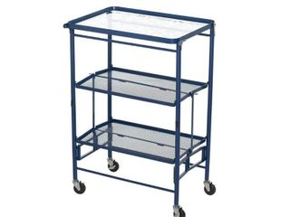 Temp tations Etched Glass Top Collapsible Kitchen Cart
