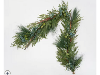 Martha Stewart Indoor Outdoor 5  Prelit Winter Floral Garland