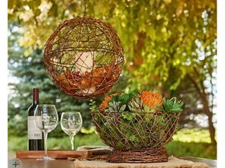 Barbara King S 2 Grapevine  Bronze Metal or Galvanized 12  Sphere