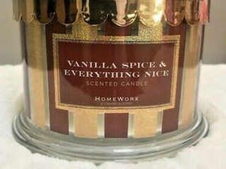 HomeWorx by Harry Slatkin 18 oz 4 Wick Candle Vanilla Spice   Everything Nice