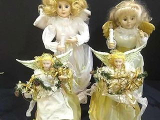 4  Angels  Tree Toppers   Animated