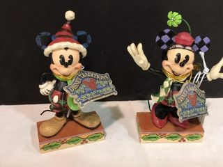 2  Jim Shore Disney Traditions Mickey Mouse
