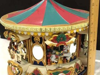 Mr  Christmas Musical Holiday Carousel