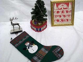 Christmas Tree Music Box  Stocking Hanger