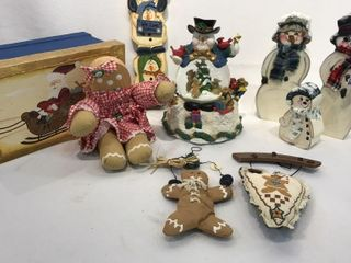 Gingerbread People and Snowmen Decorations