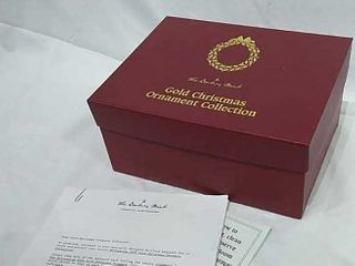 2000 Danbury Mint Gold Christmas Ornaments