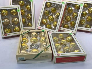 Vintage Gold Color Christmas Ornaments