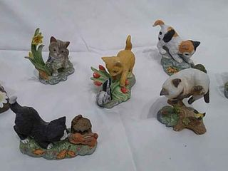 7  Danbury Mint Kitten Figurines
