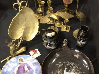 Brass Candle Holders  Decorative Plates