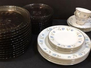 22 Brown Plates in 2 sizes  Fine China
