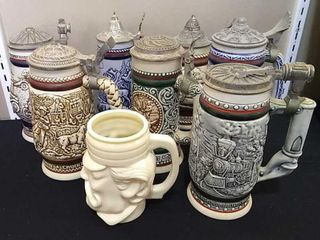 8  Avon Beer Steins